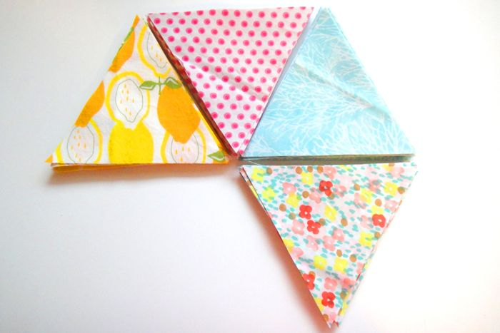 Baby Girl Rohrer Quilt Planning Fabrics #1 in progress - mini triangles