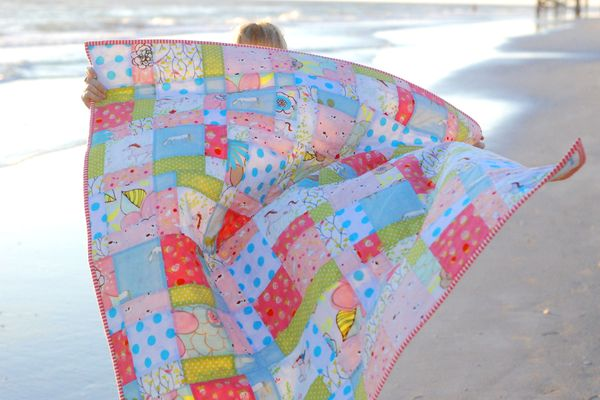 Pony Quilt - Disappearing 9 Patch by Studio AR