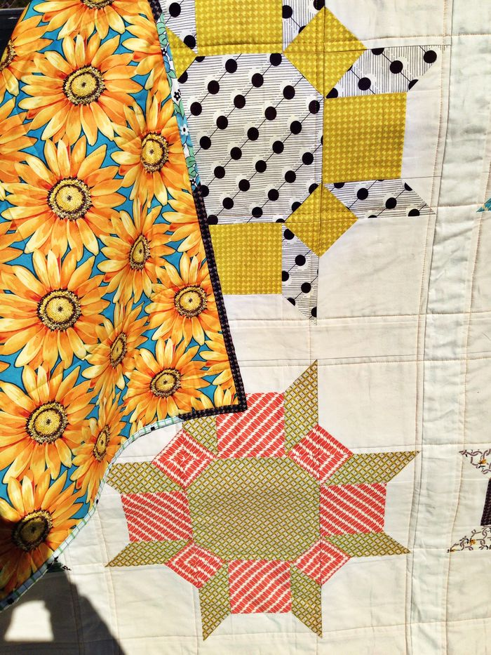 Denyse Schmidt Hadley Fabric and Wallflower pattern by Cluck Cluck Sew