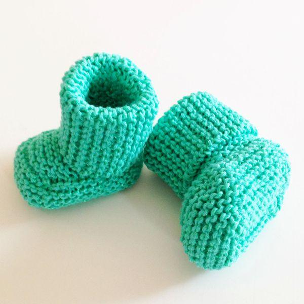 8c520485b971 Hand Knitted Newborn Baby Booties - Amber Rohrer    studio AR